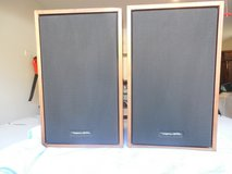 "Pair of Radio Shack ""Realistic"" Wood Grain Speakers  18""/11""/7 1/2"" Input 8 Ohms in Yorkville, Illinois"