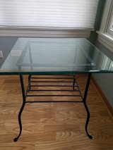 Glass End Table in Bartlett, Illinois