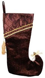 Classy Brown & Gold Christmas Stocking in Lockport, Illinois