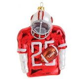 Glass Football Christmas Ornament in Naperville, Illinois