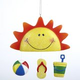 Sunshine/ Beach Christmas Ornament in Oswego, Illinois