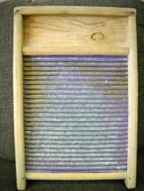 Washboard, Small Wooden with purple metal ribs in Lake Elsinore, California