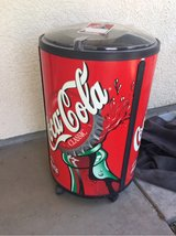 large Coca-Cola round ice cooler in Nellis AFB, Nevada