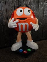 3 Ft. Orange M & M Store Display on Casters Wheels in Barstow, California
