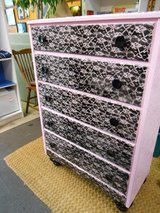Pink & Black Lace Chest of Drawers in Cherry Point, North Carolina