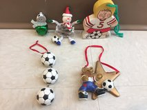 Soccer ornaments in Okinawa, Japan