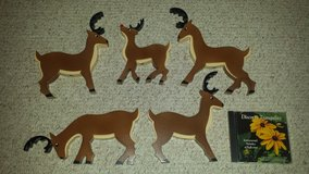Set/5 Wooden Reindeer, includes Rudolph! in Glendale Heights, Illinois