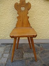 Antique wooden chair in Grafenwoehr, GE