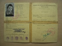 French Permit to travel in the German/French frontier area of Saarbrucken in Mannheim, GE