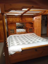 California King wooden bed (price reduced again) in Fort Leonard Wood, Missouri