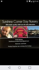 for quality and affordable childcare sunshine corner day nursery in Lakenheath, UK