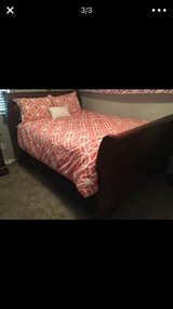 Queen size cherry wood bed frame in Temecula, California