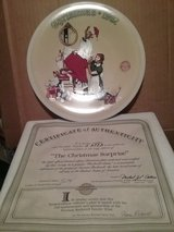 "Norman Rockwell 1992 Christmas Plate ""The Christmas Surprise "" in Glendale Heights, Illinois"
