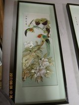 Vintage Asian Bird Mother of Pearl Abalone Shell 3D Shadow Boxes in Fort Leonard Wood, Missouri