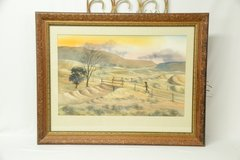 Watercolor framed art work by Ray W Hellberg in Alamogordo, New Mexico