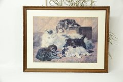 Set of 4 Framed, matted and glass Cat prints in Alamogordo, New Mexico