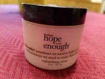 NEW Philosophy, Hope is not enough replenishing cream in Plainfield, Illinois