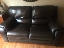 Leather Reclinable Love Seat Sofa in St. Charles, Illinois