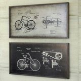 vintage bicycle blueprint wall art in Travis AFB, California
