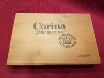 Vintage wooden cigar box in Wheaton, Illinois