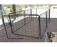 Dog enclosure panels in Yucca Valley, California