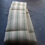 Chaise lounge cushions green/beige striped in Aurora, Illinois