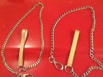 Dog leashes New.   Brass with leather handles in Bolingbrook, Illinois