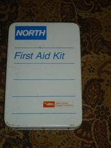 vtg metal wall mount first aid kit in Chicago, Illinois