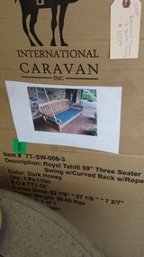 "PORCH SWING 59"" Three Seater NEW in Naperville, Illinois"