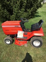 "Montgomery ward all metal tractor 38"" cut complete needs serviced in Yorkville, Illinois"