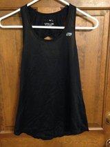 Black Sleeveless top w/special cross back - S in Naperville, Illinois