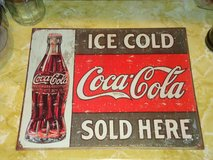 16x12 metal coke sign in St. Charles, Illinois
