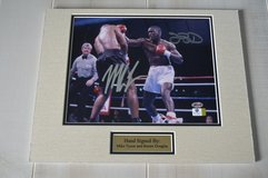 Mike Tyson & Buster Douglas Autographed Boxing Photo in Camp Lejeune, North Carolina