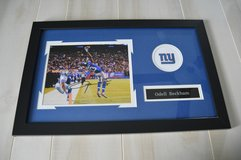 Odell Beckam New York Giants Autographed Framed & Matted 8x10 Photo in Camp Lejeune, North Carolina