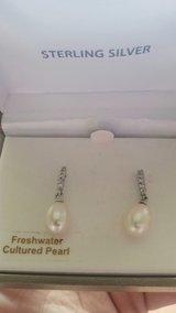 Beautiful Sterling Silver Cultured Pearl Earrings in CyFair, Texas