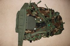 New US Air Force Camo Rucksack with metal/plastic frame in Lakenheath, UK