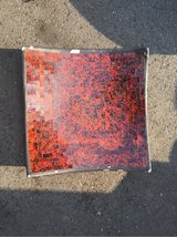 Asian style mosaic red and black serving dish in Spangdahlem, Germany