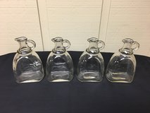 GLASS PITCHERS w/HANDLE (4) in Plainfield, Illinois