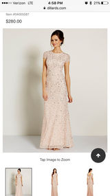 Adrianna Papell sequined blush dress in Camp Lejeune, North Carolina
