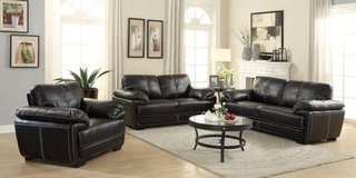 SALE!! ALL MUST GO!  LEATHER URBAN SOFA LOVE LIVING ROOM SET! in Camp Pendleton, California