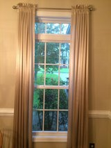 4 Curtain panels and 2 curtain rods in Camp Lejeune, North Carolina
