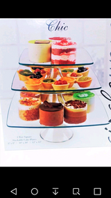 2 Glass Cupcake Stands= 6 Cake Stands NIB in Fort Campbell, Kentucky
