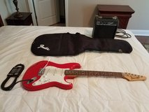 Starcaster Fender Guitar with Case and Amplifier (firm) in Fort Benning, Georgia