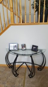 Large glass decorative entry table! in Plainfield, Illinois