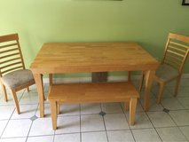 Dining room Table w/ Bench & 3 Chairs in Cherry Point, North Carolina