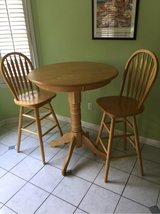 Pub Table & 2 Chairs - Light Wood in Cherry Point, North Carolina