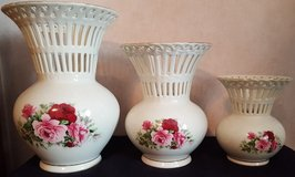 Victorian Rose Vases set of 3 in Perry, Georgia