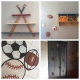 Sports bedroom decorations in Bolingbrook, Illinois