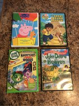 Set of 4 kids DVD, Peppa, Diego,Leap Frog and John Deere in Bartlett, Illinois