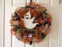 "NEW HANDMADE by ME 22"" Round Halloween GHOST Wreath in Shorewood, Illinois"